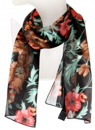 Wholesale O42B Big flower satin scarf