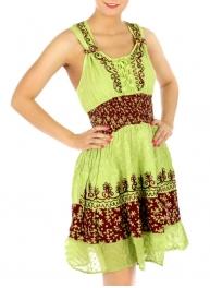 wholesale Embroidery wash tie dye cotton dress YL/CR