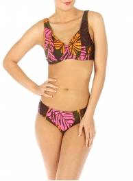 wholesale G41 Abstract leaves bikini swimsuit OR/PK