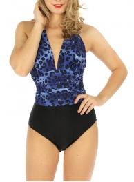 wholesale K24 Midwaist scrunched one-piece swimsuit BKWT