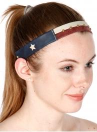 wholesale Faux leather Texas flag headband GMR fashionunic