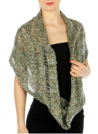 Wholesale S75C Multi Color Infinity Knit Scarf OL