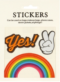 Wholesale WA00 Yes! PU sticker set for clothes & accessories