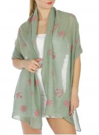 wholesale Nautical print scarf Grey fashionunic