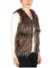 wholesale L36 Long hair faux fur Vest BR fashionunic