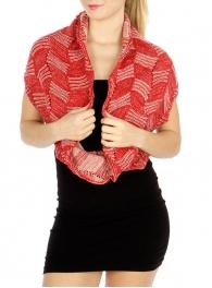 wholesale O42 Ruffled Edge Infinity scarf BR fashionunic