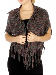 Wholesale P29 Tasseled knit infinity scarf PPGN