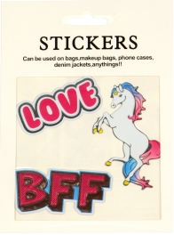 Wholesale WA00 BFF PU sticker set for clothes & accessories