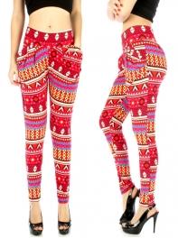 wholesale Cotton colorful stripe pocket harem pants
