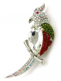 wholesale L21D Studded bird brooch RMU