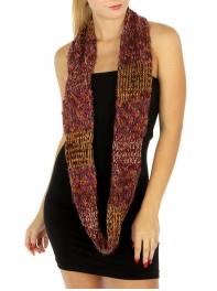 Wholesale W63 Multicolored metallic infinity scarf BD