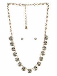wholesale Spiked stone necklace set GDCL fashionunic