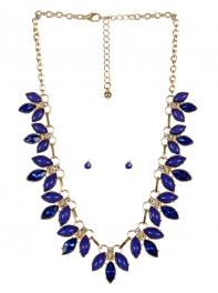 wholesale Pointed stone necklace set GDBL fashionunic