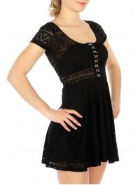 Wholesale F30 Round neck mesh dress Black
