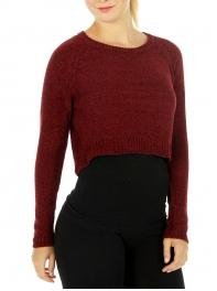 Wholesale S60 Crew neck cropped sweater Black