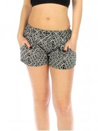 Wholesale K39 Abstract pattern shorts Black fashionunic