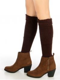 Wholesale BX00 Rib knit legwarmers Black fashionunic