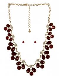 wholesale Clutter stone necklace set GDBUG fashionunic