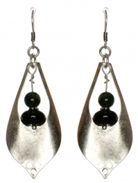 Wholesale WA00 Stone & metal teardrop earrings OG