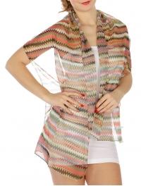 wholesale J20 Dozen Multi color wave scarf  fashionunic