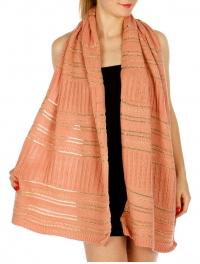 Wholesale T07D Solid Color Knit Shawl Metallic Accent IV