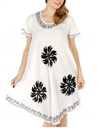 Wholesale WA00 Embroidery umbrella dress BK