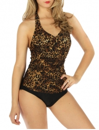 wholesale K24 Side scrunched one-piece swimsuit BR Zebra