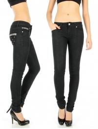 Wholesale H00 Studded denim pants Black fashionunic