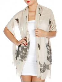 Wholesale J00D Owl In The Forest Scarf BK