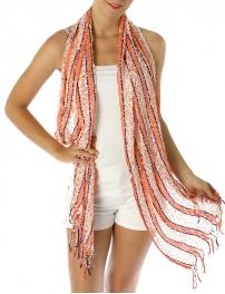 Wholesale J21 Stripe handmade viscose scarf  fashionunic
