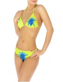 wholesale K77 Single flower bikini swimsuit Green