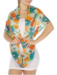 wholesale Chiffon flower print infinity scarf BLFC