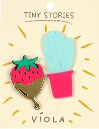 Wholesale WA00 Cactus & strawberry pin