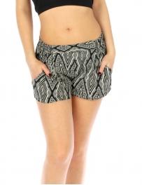 Wholesale K39 Tribal print shorts Black fashionunic