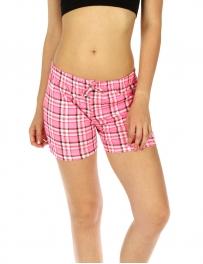 wholesale K77 Flannel cotton pajama shorts Pink