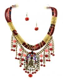 Wholesale L35B Multi bead drop necklace set RGRD