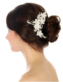 Wholesale N35 Floral hairpiece Silver fashionunic