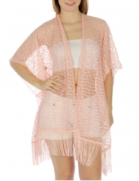 Wholesale H11 Fringed lace kimono PC