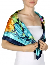 Wholesale I35D Butterflies On Flowers Fashion scarf