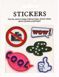 Wholesale WA00 COOL PU sticker set for clothes & accessories