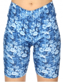 Wholesale C24C Wild garden print softbrush bermuda leggings