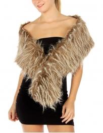 wholesale E18 Hairy faux fur long hair scarf CM
