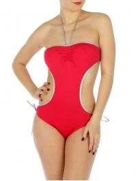 wholesale K16 Silver trim cut out swimsuit FS/Silver