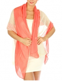 wholesale J07 Two-Tone sequin lace scarf Coral