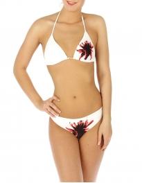 wholesale K77 Single flower bikini swimsuit White