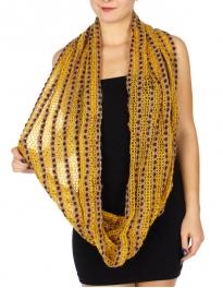 Wholesale WA00 Multi-color & pattern knit infinity scarf four colors dozen