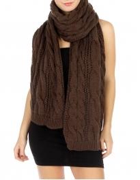 wholesale Combi Cable Knit Shawl Black