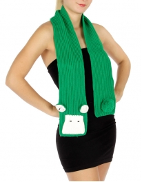 wholesale 3D animal knit scarf Green Sheep