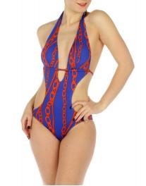 wholesale K16 Chains one piece swimsuit RB/Orange