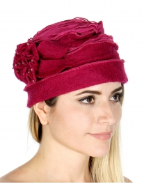 wholesale F12 Wool stone corsage bucket Hot Pink